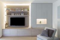 TV meubel in living met ingewerkte verlichting3 2