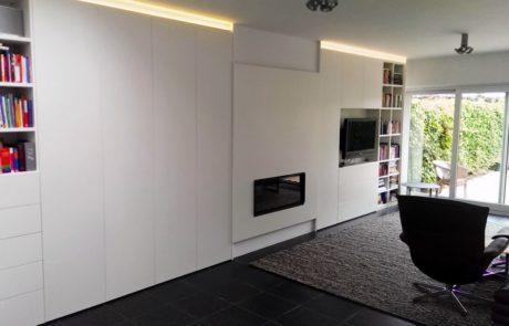 Meuble TV à foyer intégré