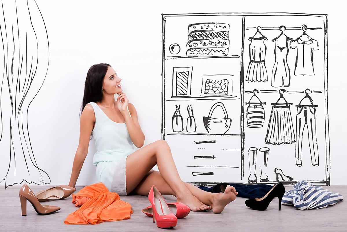 vrouw dressing op maat