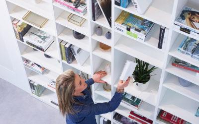 De ideale diepte van een boekenkast op maat? Lees hier het antwoord.