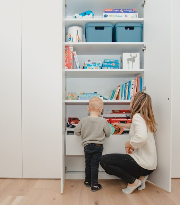 Opbergruimte voor de kinderkamer