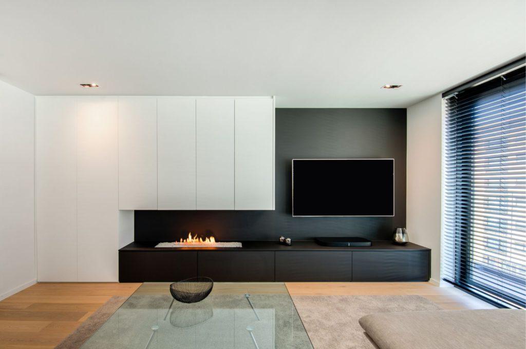 Tv-meubel Met Haard In De Woonkamer