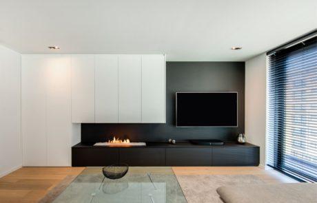 Meuble TV avec foyer