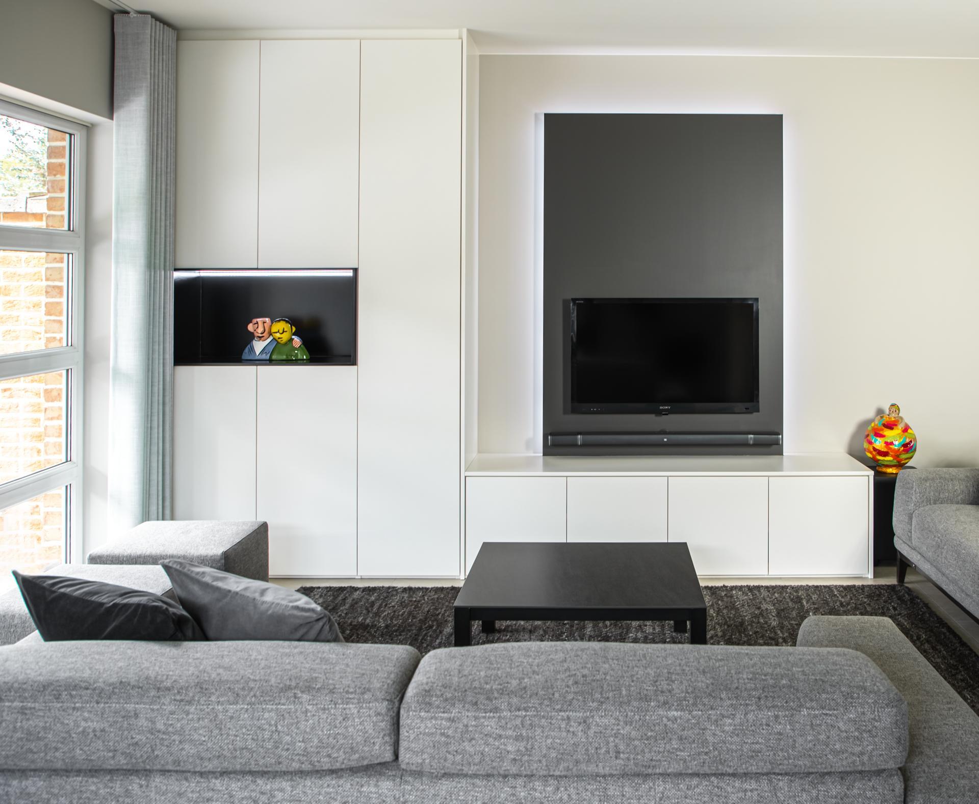 Meuble TV moderne à éclairage intégré