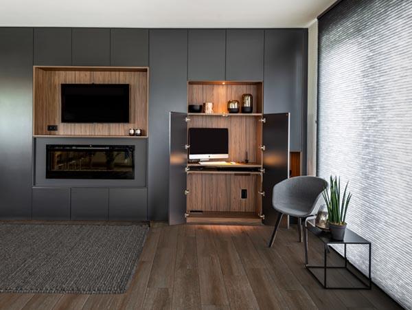 tv meubel met home office